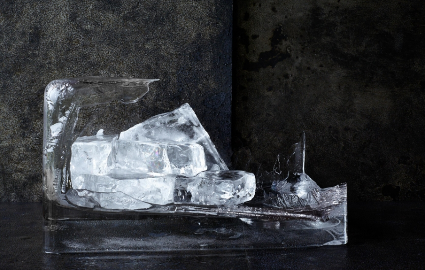 Large format ice cubes from Hundred Weight Ice