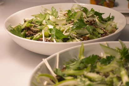 A shaved salad for the dinner course Gramercy Tavern