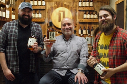 Tyler LaCorata, Albert Severese, Ryan Sadis of Still the One Distillery Two in Port Chester.