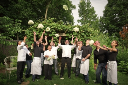 Chef Serge Madikians and his team at Serevan in Amenia New York.
