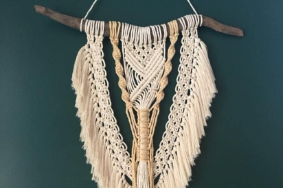 El Marie Macramé hand crafted decor in Highland, New York.