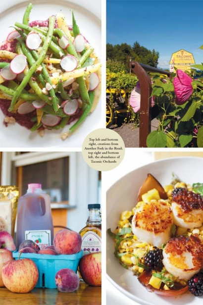 creations from Another Fork in the Road and produce from Taconic Orchards