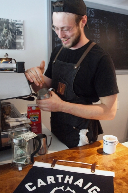 Andrew McCarthy of Carthaigh Coffee in Stone Ridge.