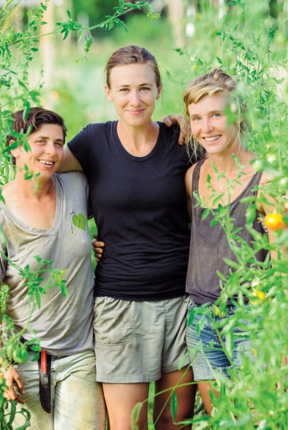 The three owners of Ironwood Farms, Aliyah Brandt, Lauren Jones, Jennifer Parker.