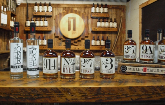 Various products at Still the One Distillery Two in Port Chester.