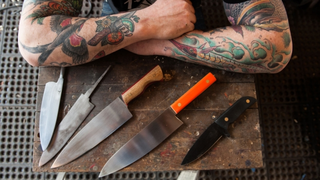 Geoff Feder and his knives