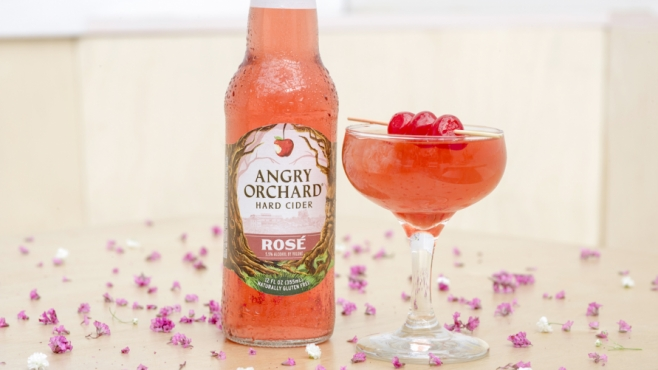 Rosé Cherry Blossom made with Angry Orchard Rose cider