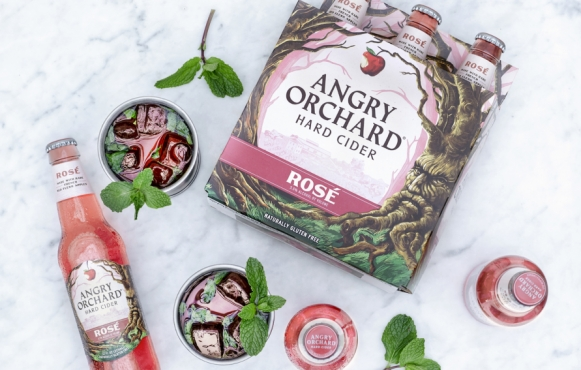Rosé Cider Julep with Angry Orchard Rose Cider